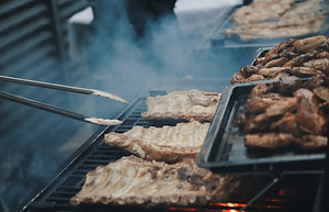 Picture of meat being grilled