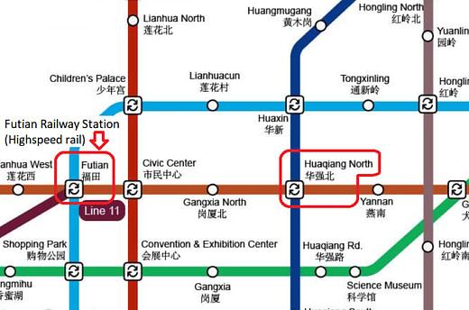 Futian Metro map
