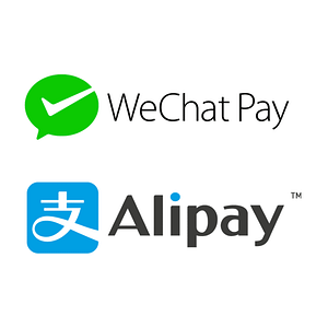 Logo's of WeChat and Alipay