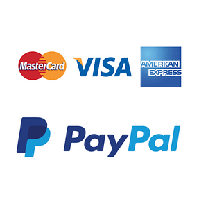 Logo's of Credit cards and PayPal